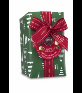 Ballotin 33 chocolats assortis avec crème fraîche Papier Noël et ruban